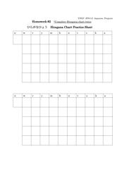 Hiragana Chart Practice Sheet - University Of Nevada