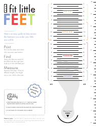 Sample Kids Shoe Size Chart - Fit Little Feet