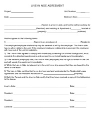 """Live-In Aide Agreement Template"""