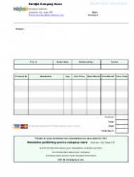Subscription Invoice Template