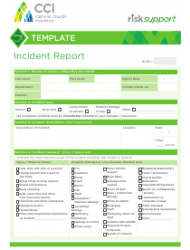 Incident Report Form - Catholic Church Insurance