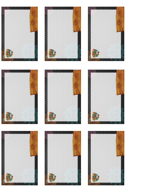 """Rectangular Gray Wooden Name Tag Templates - Maker Fun Factory"" Download Pdf"