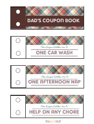 """Dad's Coupon Book - Reward Coupon Templates"""