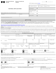 "Form CSC/SCC0653e ""Visiting Application Form"" - Canada"