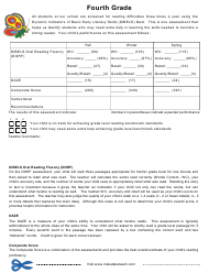 Dynamic Indicators of Basic Early Literacy Skills Assessment Form - Fourth Grade