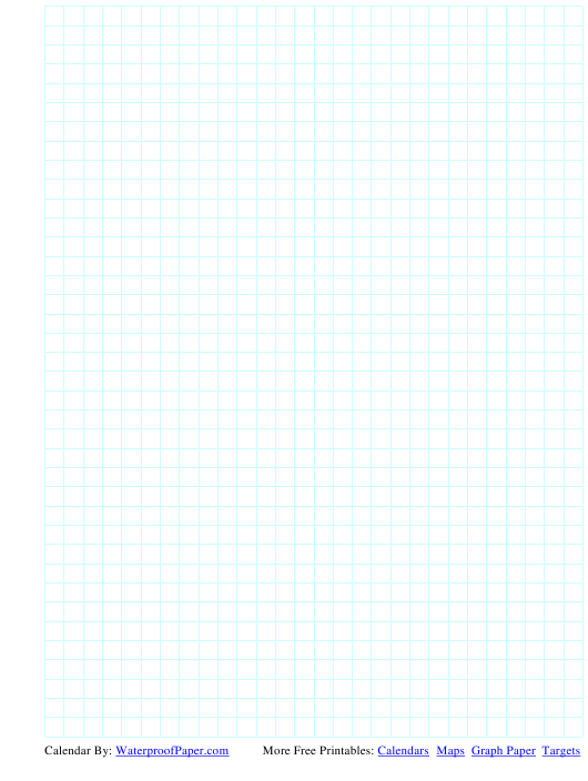 """""""Blue on White 1/4 Inch Grid Paper Template"""" Download Pdf"""