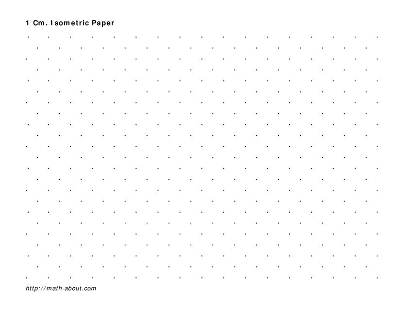 """Black Isometric 1 Cm Dot Paper Template"" Download Pdf"