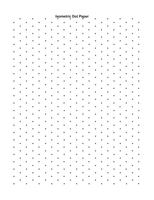 Black Isometric Dot Paper Template Download Pdf