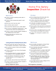 """Home Fire Safety Inspection Checklist"" - Horry County, South Carolina"