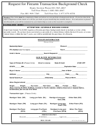 "Form BCI1524A-0310 ""Request for Firearm Transaction Background Check"" - Utah"