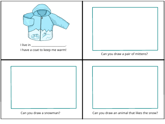 """""""Winter Foldable Book Template for Kids"""" Download Pdf"""