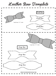 2.5-3.5 Inch Bow Templates