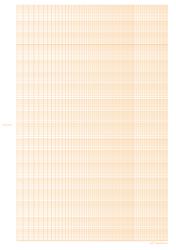 Orange Logarithmic Graph Paper Template - 6 Decades