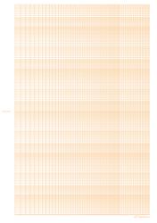 Orange Logarithmic Graph Paper Template - 5 Decades