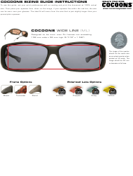 """Eyewear Sizing Guide Chart - Cocoons"""