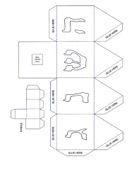 Hanukkah Foldable Paper Dreidel Template