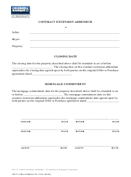 Contract Extension Addendum Template - Coldwell Banker St. Croix Realty