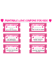 """Love Coupon for Kids Template"""
