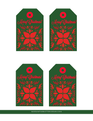 """Green and Red Christmas Gift Tag Templates"""