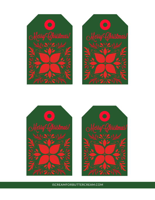 """""""Green and Red Christmas Gift Tag Templates"""" Download Pdf"""