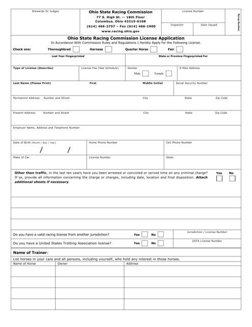 Form OSRC1000  Printable Pdf