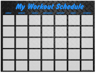 """Weekly Workout Schedule Template - Dark Metal Plate"""