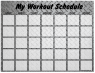 """Weekly Workout Schedule Template - Metal Plate"""