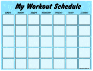 """Blue Workout Schedule Template"""