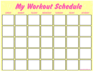 """Yellow Workout Schedule Template"""