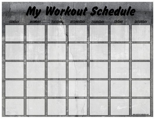 """""""Weekly Workout Schedule Template"""" Download Pdf"""