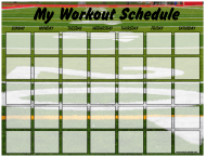 """Football Weekly Workout Schedule Template"""