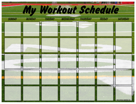 """Football Weekly Workout Schedule Template"" Download Pdf"