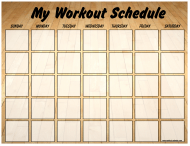 """Gym Weekly Workout Schedule Template"""