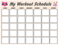 """Weekly Workout Schedule Template"""