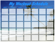 """Beach Weekly Workout Schedule Template"""