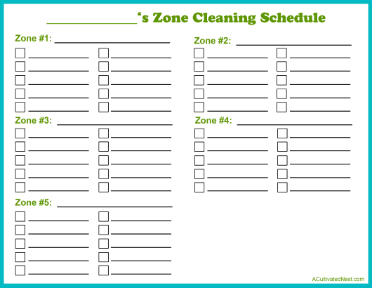 """Cleaning Schedule Template"" Download Pdf"