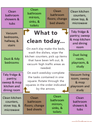 Sample Daily Cleaning Schedule