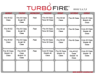 """Turbo Fire Schedule Template - Week 5, 6, 7, 8"""