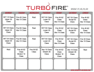 """Turbo Fire Schedule Template - Week 17, 18, 19, 20"""