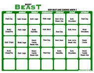 """Body Beast Huge Schedule Template - Month 3"""