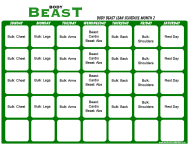 Body Beast Lean Schedule Template - Month 2