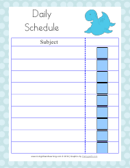 Blue Daily Schedule Template