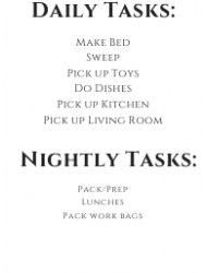 """""""Weekly House Cleaning Schedule Template"""", Page 2"""