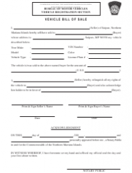 Motor Vehicle Automobile Bill Of Sale Template Download Printable