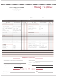 """Cleaning Proposal Template"""