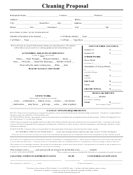Restaurant Cleaning Proposal Form
