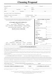 """Restaurant Cleaning Proposal Form"""