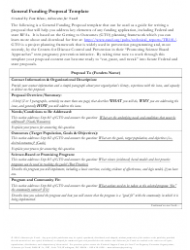 Sample General Funding Proposal Template - Advocates for Youth