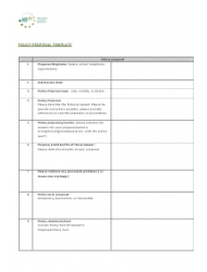 Policy Proposal Template - Ireland