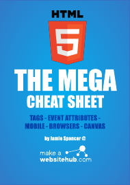 """Html5 Tags, Event Attributes, Mobile, Browser, Canvas Cheat Sheet"""